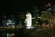 """Мерлион. Из серии """"Ночной Сингапур"""""""