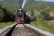 Туристический поезд в Ангасолке
