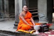 """Буддийский монах в храме Ангкор Ват (Из серии """"Камбоджа в лицах"""")"""