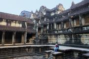 В храме Ангкор Ват