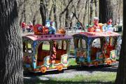 В Центральном парке. Детская железная дорога.