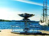 Вечный огонь Мира в гавани Осло