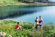 На горном озере